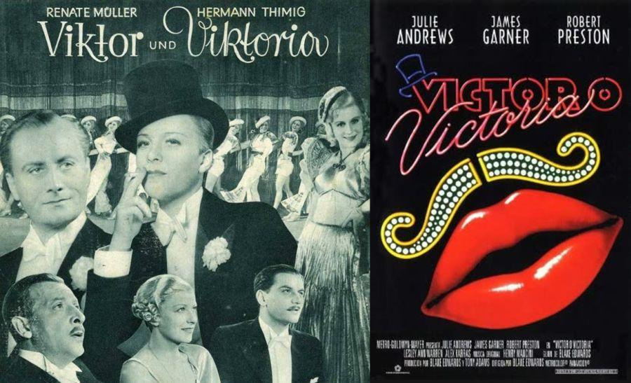 Carteles de la película Víctor o Victoria original y la de 1982