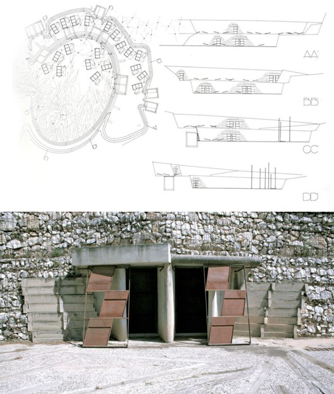 Ciudad de la muerte del cementerio de Igualada