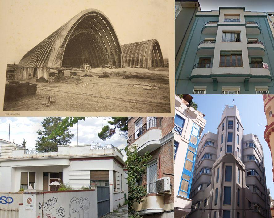 Streamline Moderne en Orly, Burgos, Málaga, Ceuta y Madrid