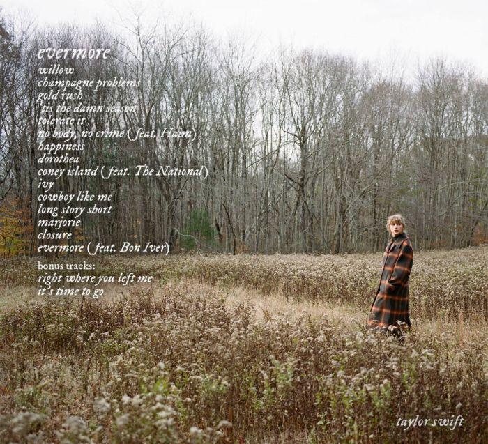 Canciones Evermore de Taylor Swift