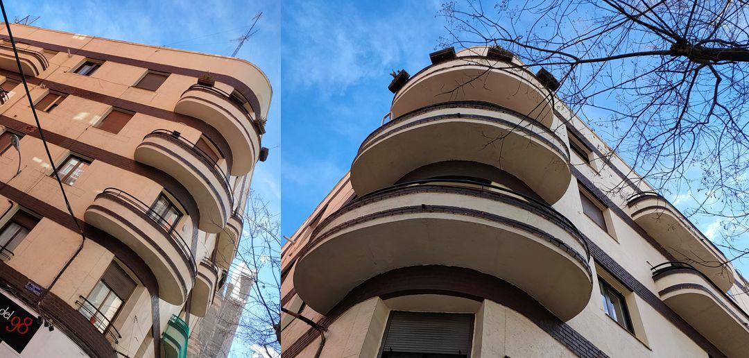 Edificios aerodinámicos del Madrid Art Decó en Vallehermoso