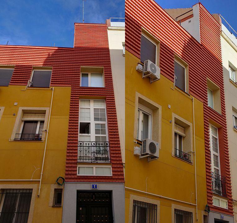 Estrías de ladrillo en el Madrid Art Decó de Chamberí