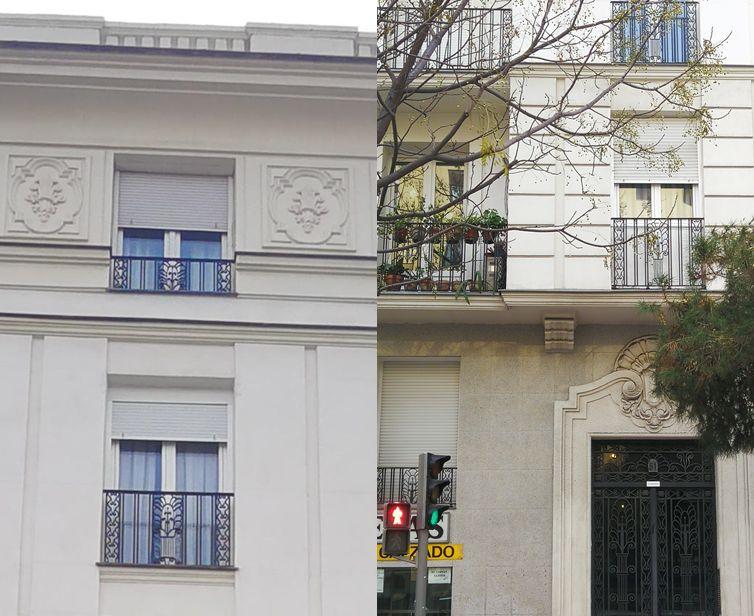 Ornamental Madrid Art Decó Zigzag Moderne en avenida Reina Victoria