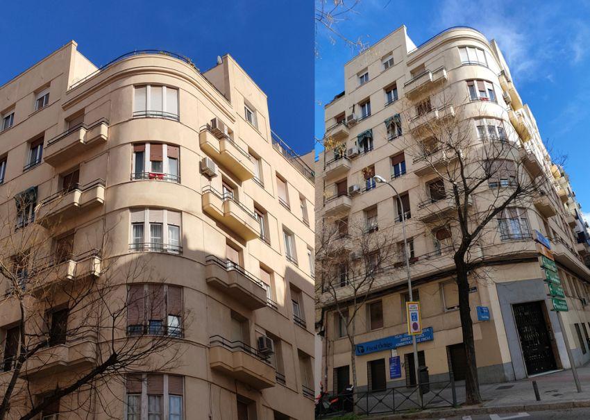 Sobresaliente edificio Streamline Moderne del Madrid Art Decó