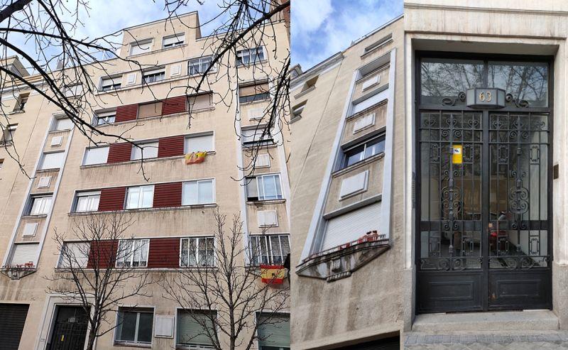 Edificio del Madrid Art Decó en la calle Cristóbal Bordiú