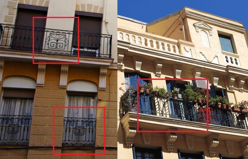 Madrid Art Decó de rejerías en calle Espronceda