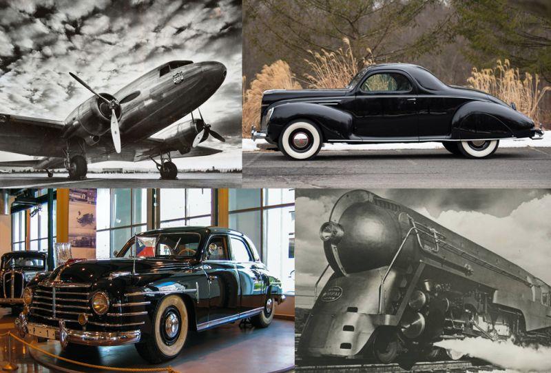 Medios de transporte aerodinámicos y el Art Decó