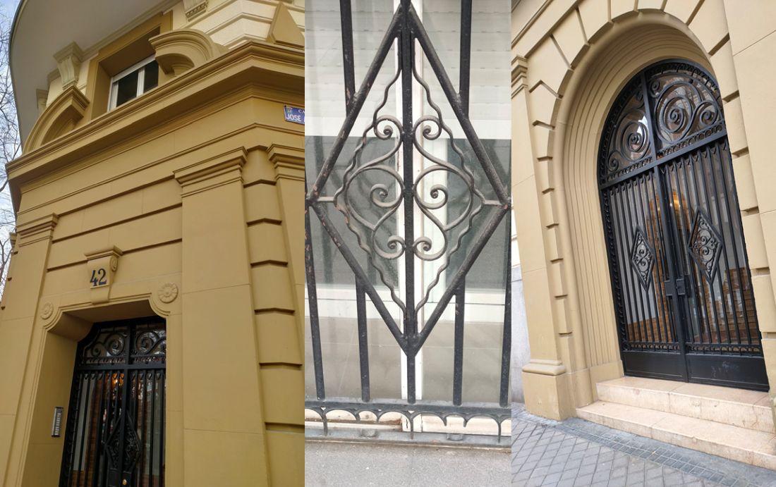 Portal Art Decó en calle Abascal 42 de Madrid