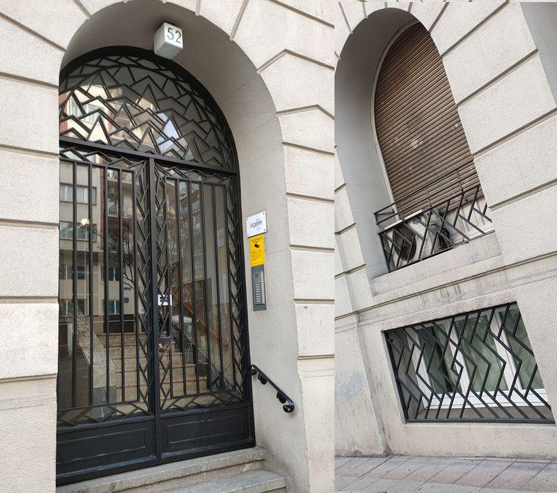 Preciosas rejerías del Madrid Art Decó en Abascal 52