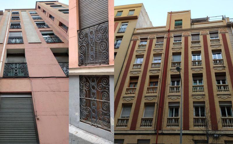 Profusión ornamental en edificios Art Decó de Alonso Cano