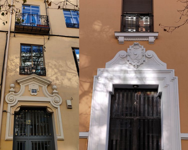 Puertas Art Decó en la calle Ríos Rosas de Madrid