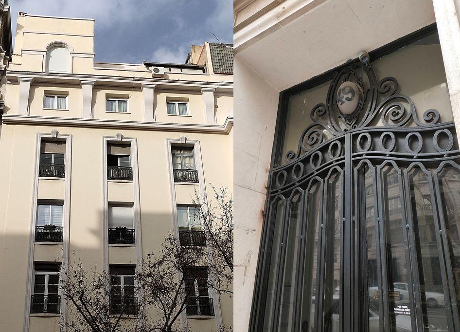 Sobria arquitectura Art Decó en Abascal