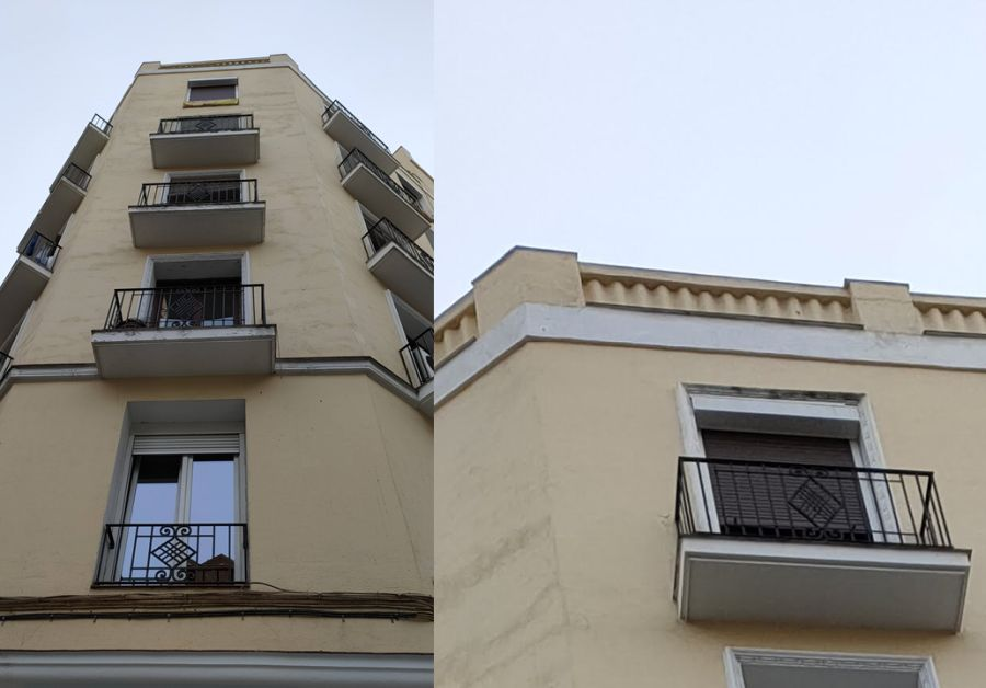 Zigzags y rombos Art Decó en la calle Espronceda
