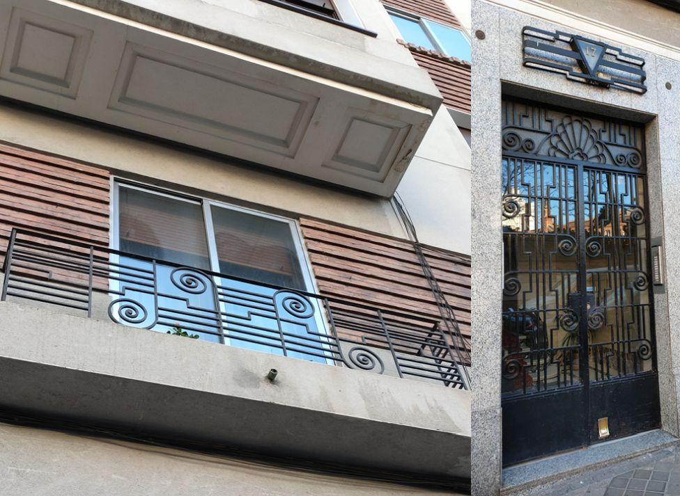 Barandillas del Madrid Art Decó en la avenida Pablo Iglesias