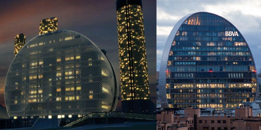 Centro Internacional de Convenciones de Madrid y la vela del BBVA