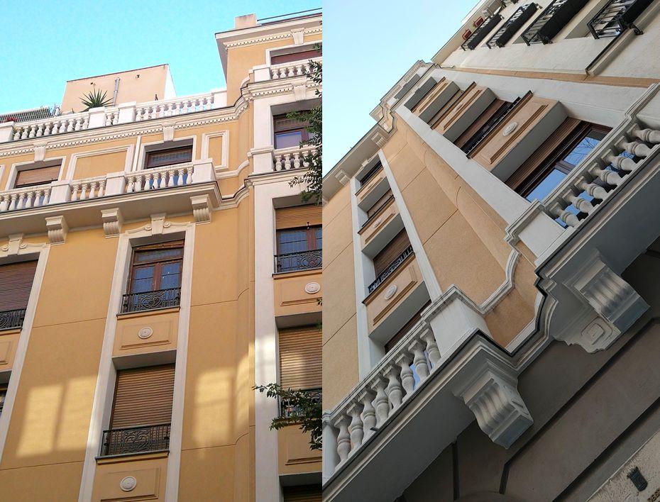 Detalles Art Decó Zigzag Moderne en Chamberí