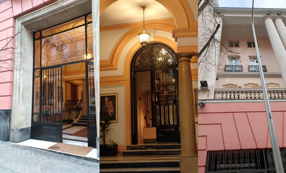 Detalles Art Decó Zigzag Moderne en la calle Fortuny de Madrid