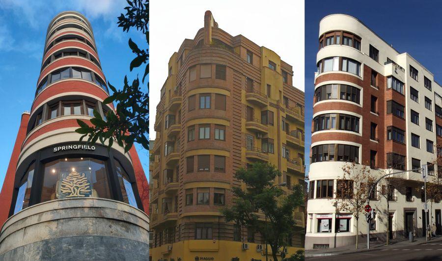 Edificios proa de barco en Madrid