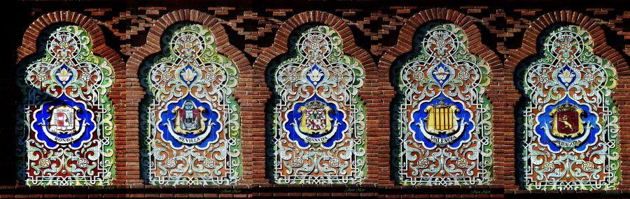 Escudos en la Puerta Grande de Las Ventas