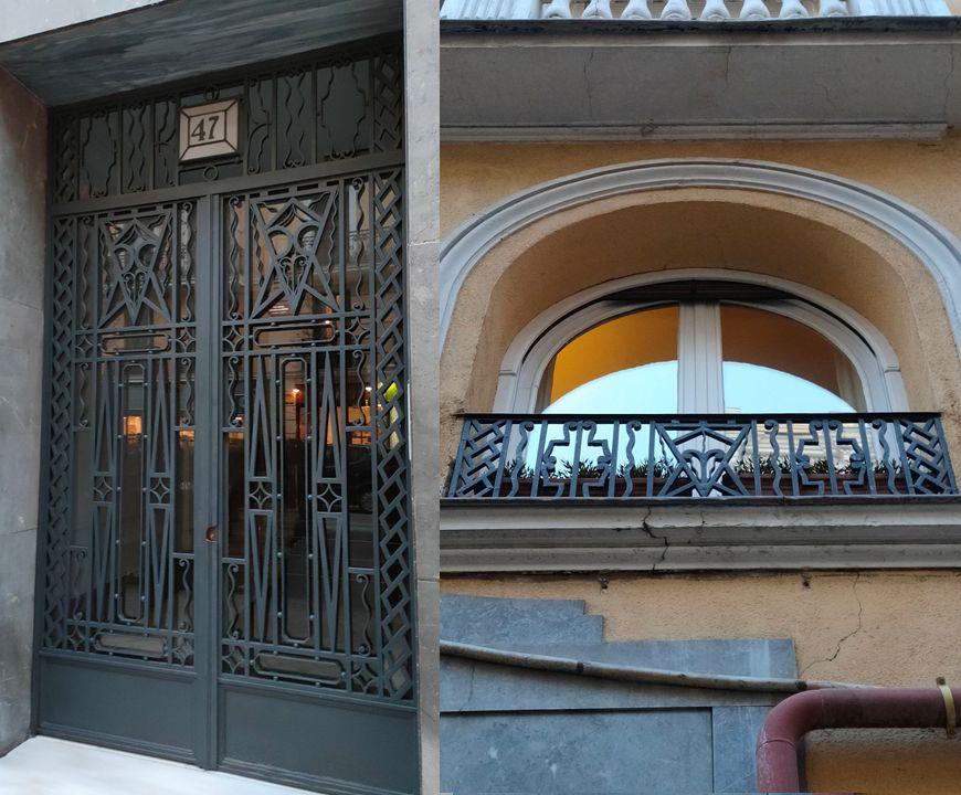 Forjas y rejerías geométricas del Madrid Art Decó