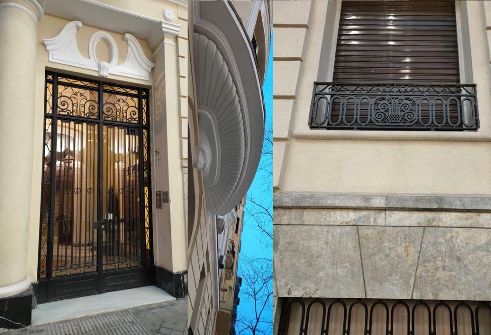 Fuentes y ornamentos Art Decó en Marqués de Riscal