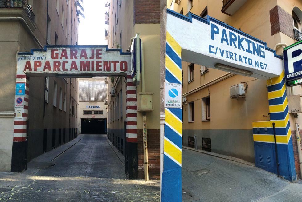 Garaje Lar, el parking Art Decó en Viriato 67
