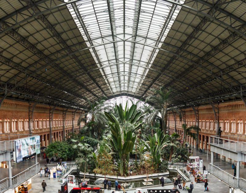 Jardín de la Estación de Atocha en Madrid