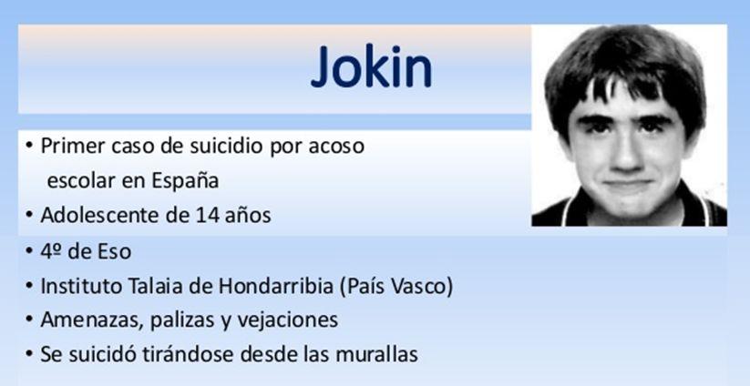 Jokin Ceberio se suicidó por el bullying que sufría