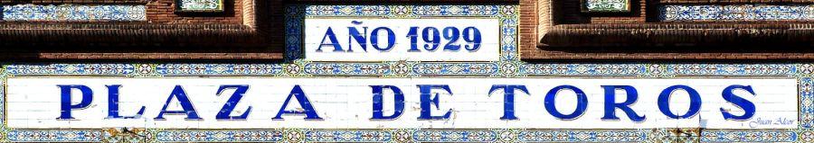 Letrero en la plaza de toros de Las Ventas