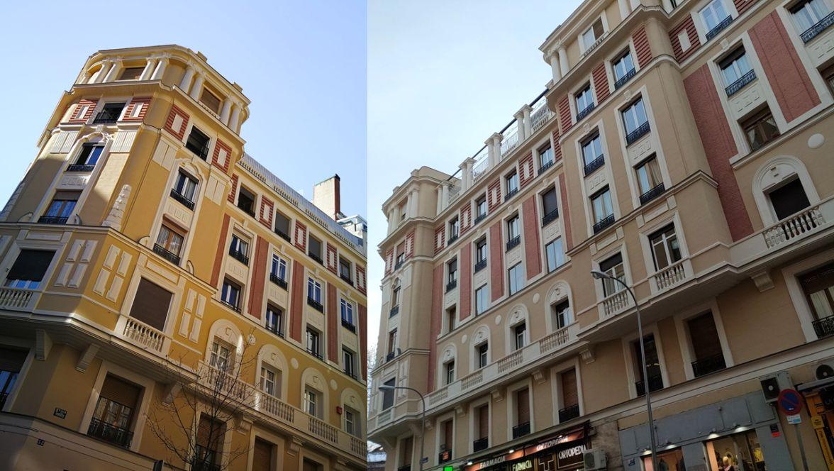 Monumental Madrid Art Decó Zigzag Moderne en Viriato y Modesto Lafuente