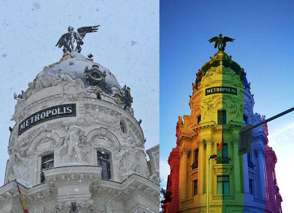 Orgullo LGTBI y Filomena en Madrid