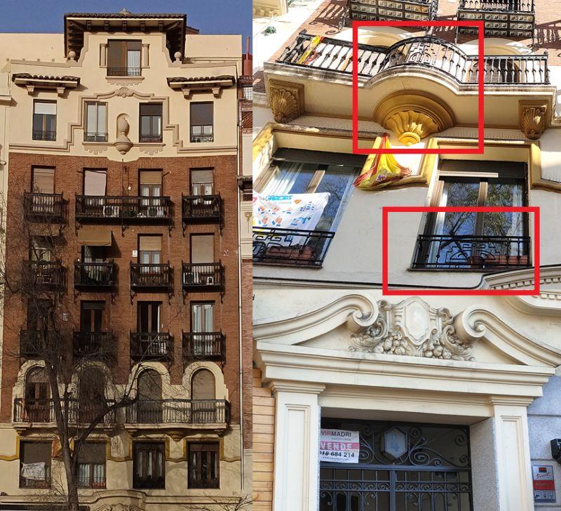 Regionalismo Decó de Madrid en glorieta de Iglesias
