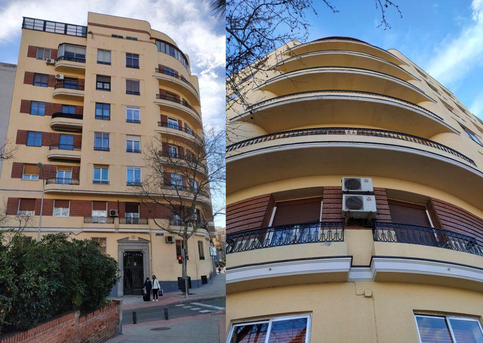 Streamline Moderne del Madrid Art Decó en los edificios del complejo Otamendi