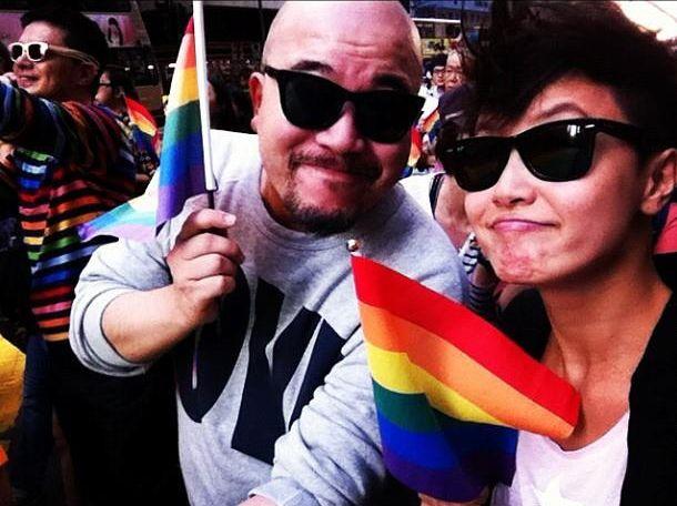 Denise Ho en el Orgullo de Hong Kong