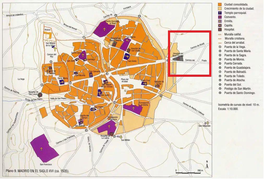Plano de Madrid en el siglo XVI
