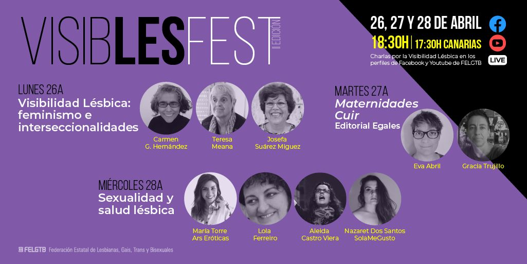 Referentes y artistas lesbianas visibles en VisibLesFest 2021
