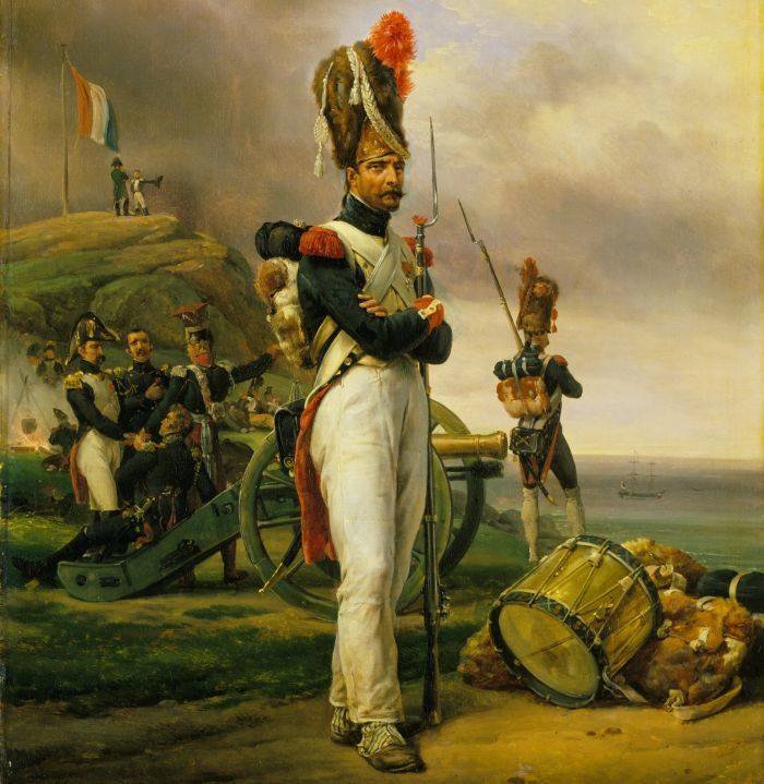 A Grenadier of the Guard at Elba y Little Simz