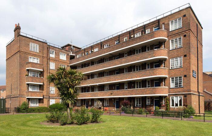 Art Decó Streamline Moderne en viviendas sociales de Londres