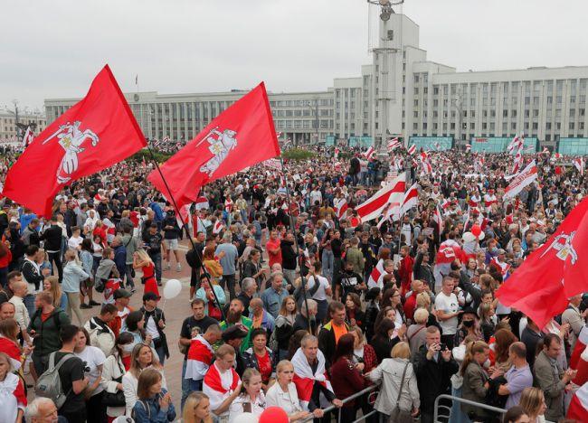 Manifestaciones de Bielorrusia en contra deLukashenko