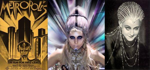 Art Decó de Metropolis en Born This Way de Lady Gaga