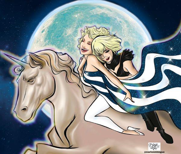 Lady Gaga y Kylie Minogue en Marry The Night