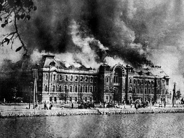 Arquitectura de Tokio incendiada en el terremoto de 1923