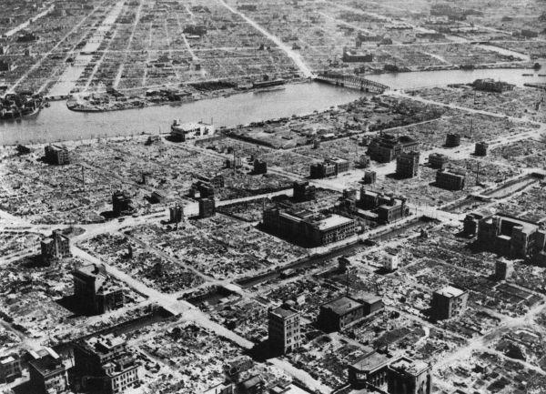 Consecuencias de los bombardeos a Tokio en 1945