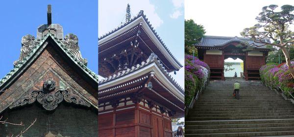 Lateral, pagoda y acceso al templo Gokoku-ji. Al igual que el edificio principal del templo Zōjō-ji