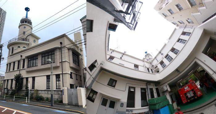 Edificios curvos de Tokio