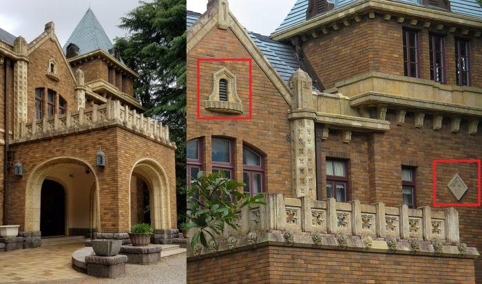Gótico Tudor estilizado como Art Decó en la mansión anterior