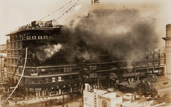 Incendio de la tienda principal de Shirokiya
