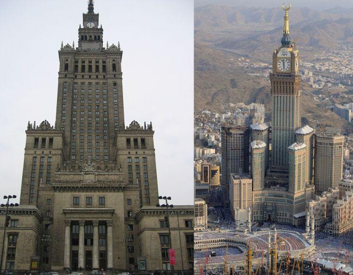 Rascacielos con reloj