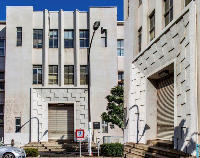 Portada cubista y Zigzag Moderne del edificio anterior