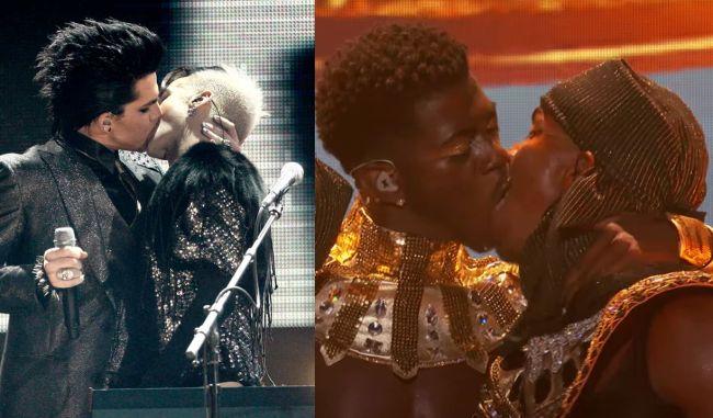 Besos gay de Adam Lambert y Lil Nas X